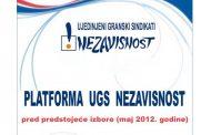Platforma UGS Nezavisnost pred prestojeće izbore