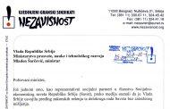 Pismo ministru prosvete Mladenu Šarčeviću