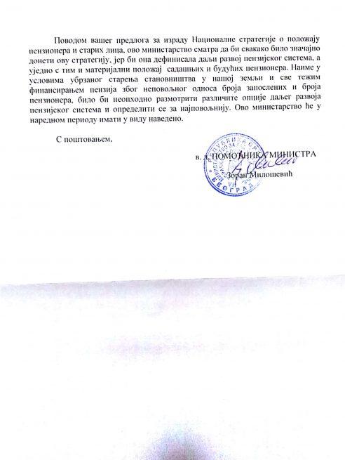 Odgovor Vlade RS i nadležnog ministarstva o zahtevima penzionera NEZAVISNOST