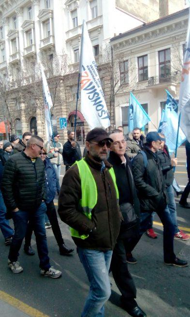 Protest ispred zgrade Vlade Republike Srbije