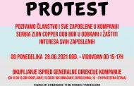 Protest Sindikata kompanije Zijin Serbia Copper Bor